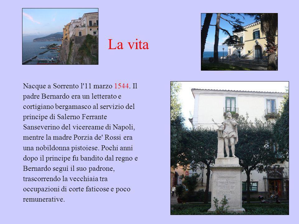 La vita Nacque a Sorrento l'11 marzo 1544. Il padre Bernardo era un letterato e cortigiano bergamasco al servizio del principe di Salerno Ferrante San