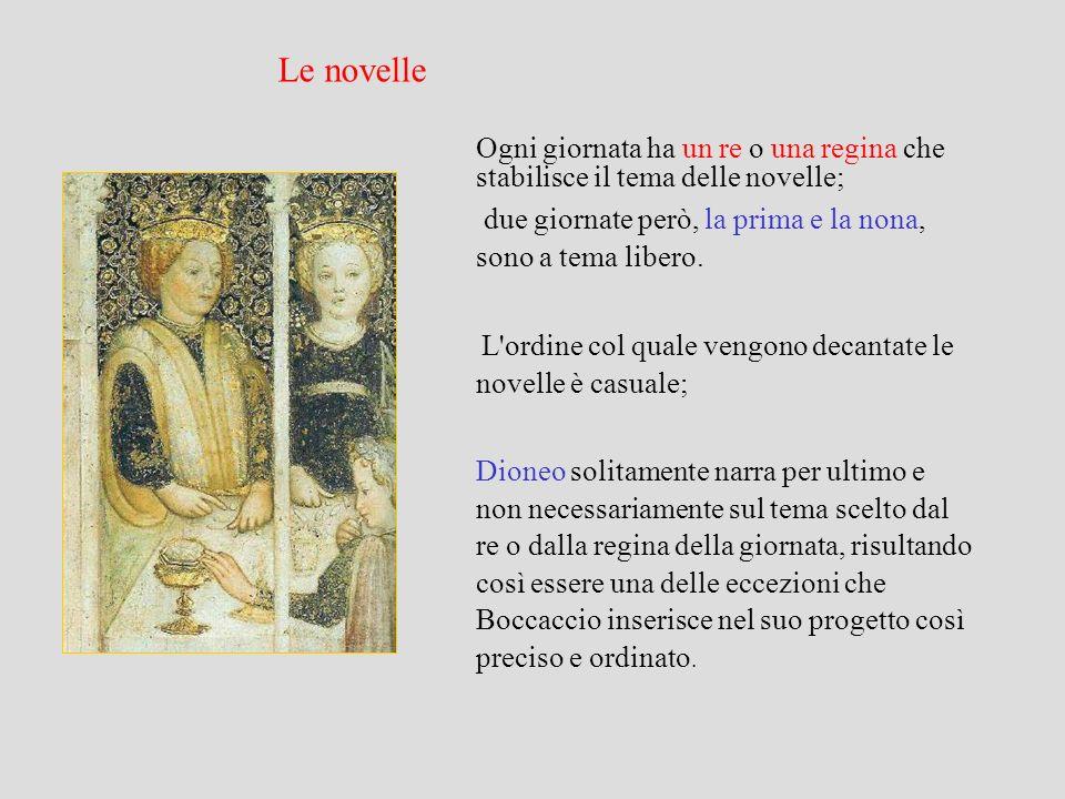 Amore L amore per Boccaccio è una forza insopprimibile, motivo di diletto ma anche di dolore, che agisce nei più diversi strati sociali e per questo spesso si scontra con pregiudizi culturali e di costume.