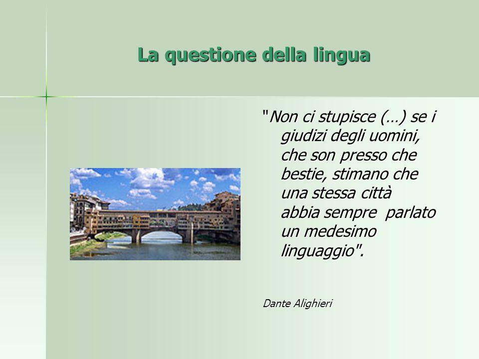 La questione della lingua