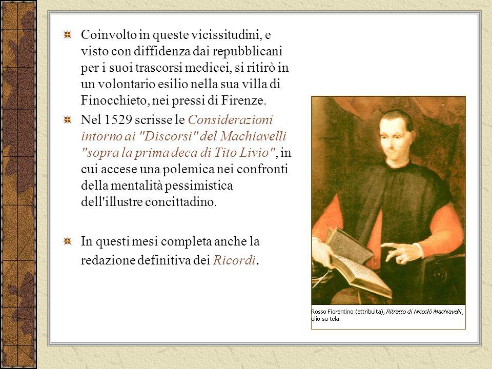 Per Machiavelli il BENE è la dedizione assoluta allinteresse della collettività e della patria.