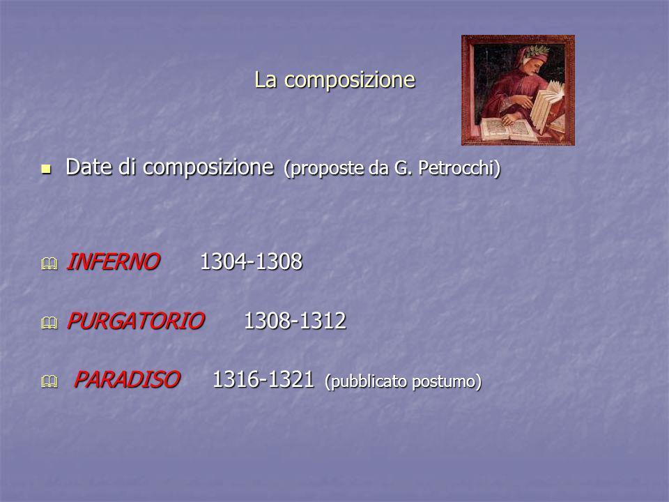 La data di composizione Il Paradiso, insieme ad una epistola, è stato inviato da Dante a Cangrande della Scala e spettava proprio a lui il compito di renderlo pubblico.