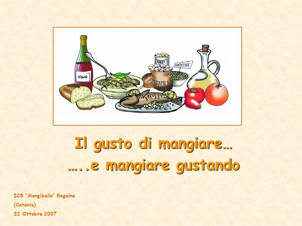 Il gusto di mangiare… …..e mangiare gustando ICS Mongibello Ragalna (Catania) 22 Ottobre 2007