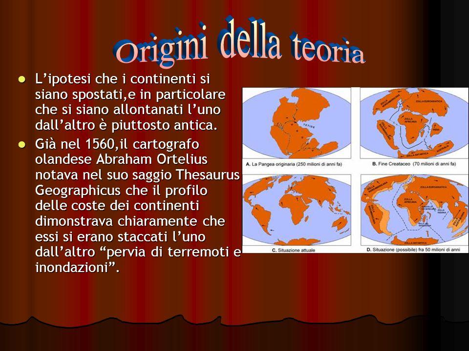 Lipotesi che i continenti si siano spostati,e in particolare che si siano allontanati luno dallaltro è piuttosto antica. Lipotesi che i continenti si