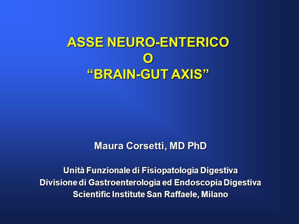 ASSE NEURO-ENTERICO O BRAIN-GUT AXIS Maura Corsetti, MD PhD Unità Funzionale di Fisiopatologia Digestiva Divisione di Gastroenterologia ed Endoscopia