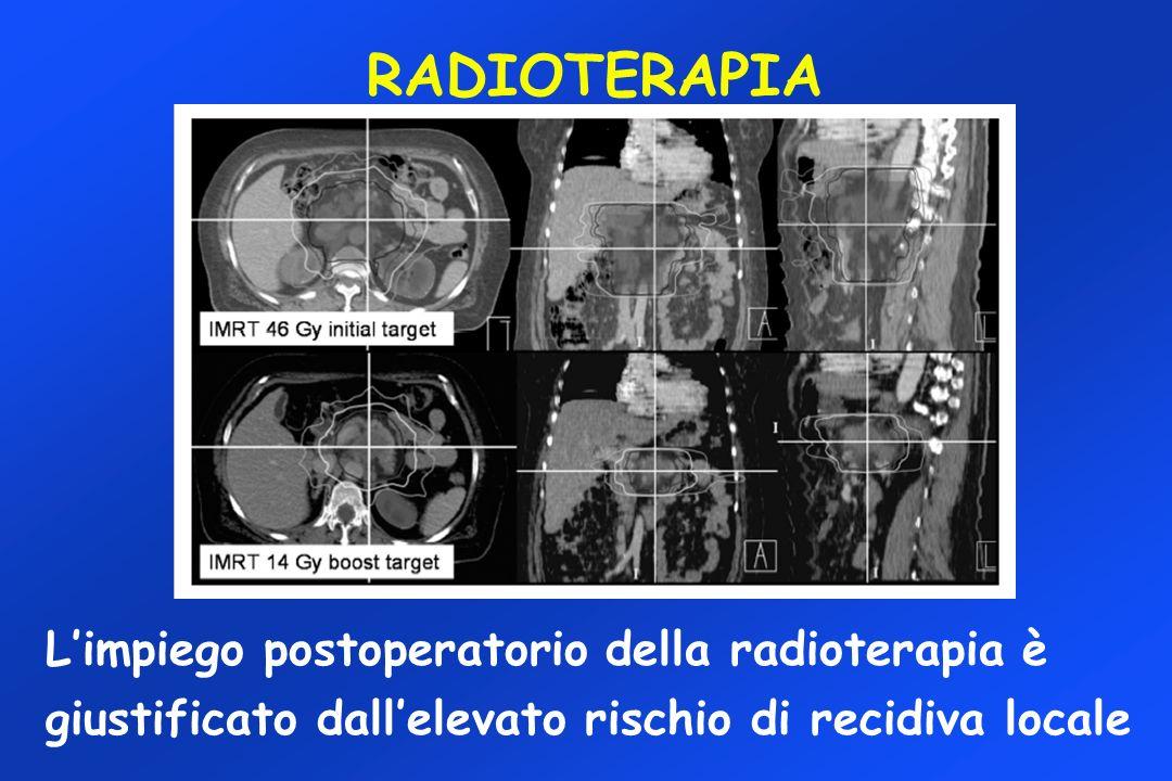 RADIOTERAPIA Limpiego postoperatorio della radioterapia è giustificato dallelevato rischio di recidiva locale