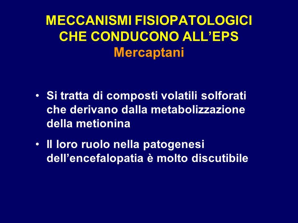 MECCANISMI FISIOPATOLOGICI CHE CONDUCONO ALLEPS Mercaptani Si tratta di composti volatili solforati che derivano dalla metabolizzazione della metionin