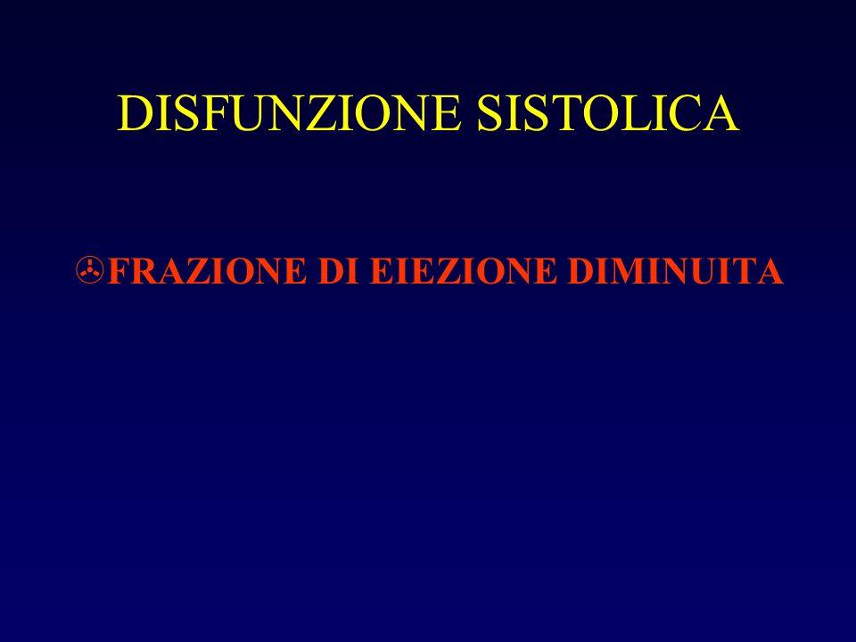 DISFUNZIONE SISTOLICA >FRAZIONE DI EIEZIONE DIMINUITA