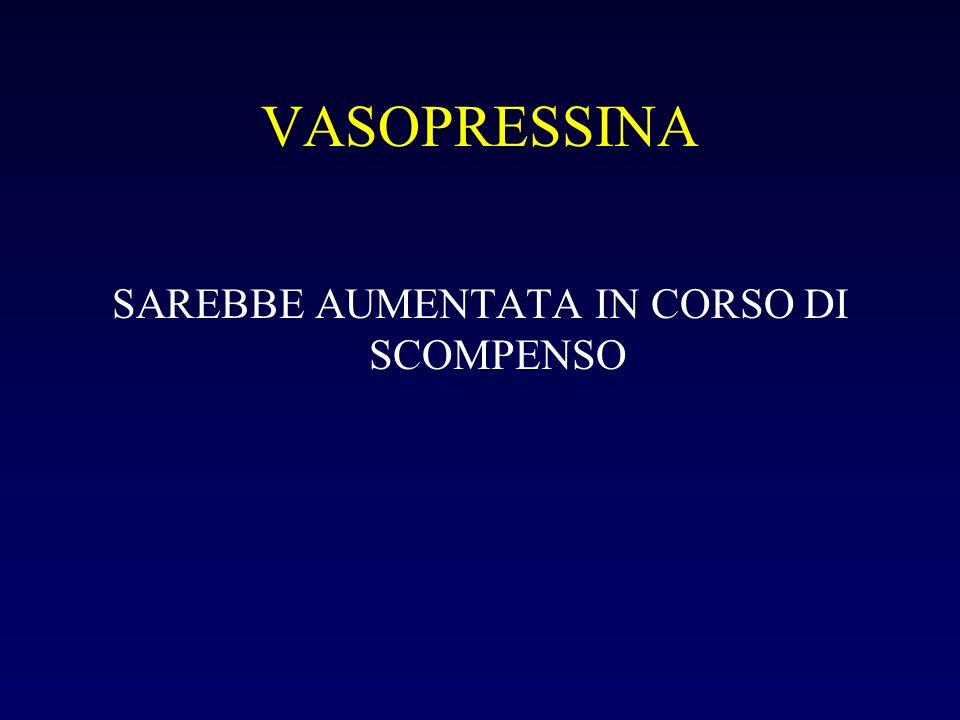 VASOPRESSINA SAREBBE AUMENTATA IN CORSO DI SCOMPENSO