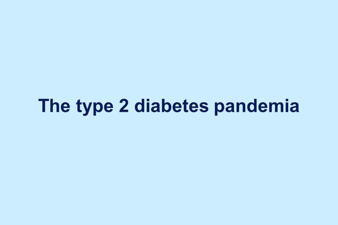 The type 2 diabetes pandemia