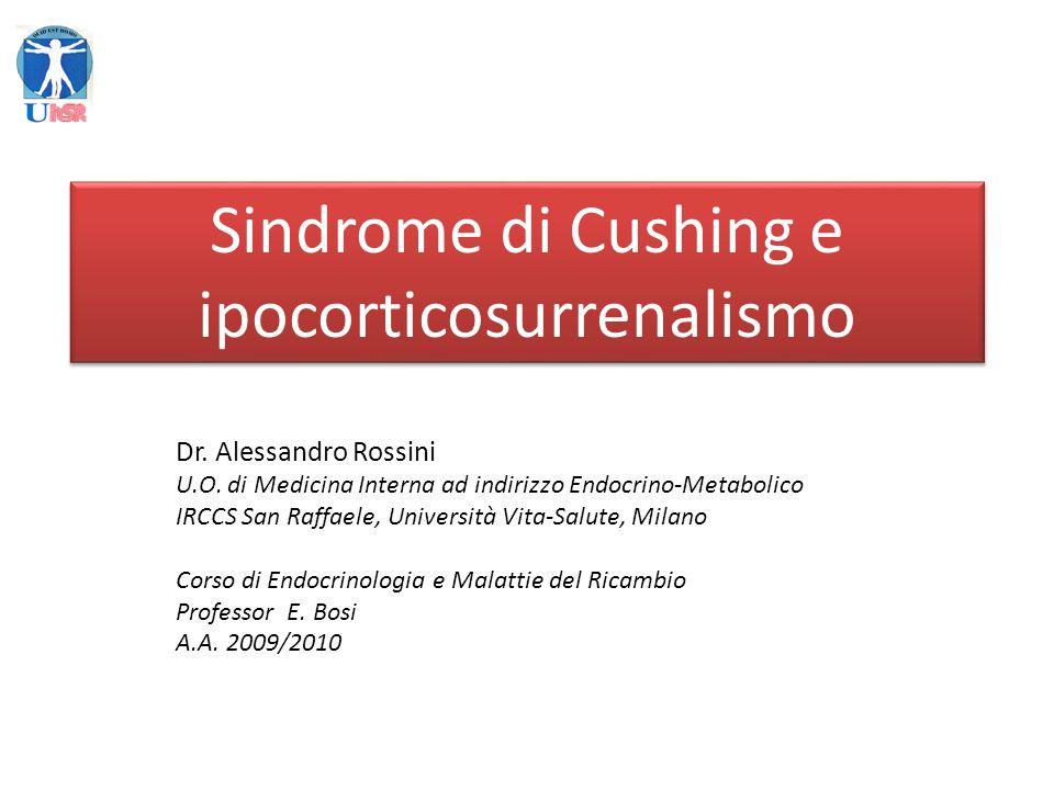 Sindrome causata dalla esposizione cronica dellorganismo ad eccessivi livelli di cortisolo, di provenienza endogena o esogena
