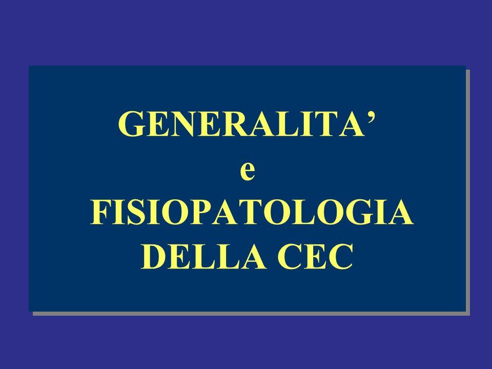 GENERALITA e FISIOPATOLOGIA DELLA CEC