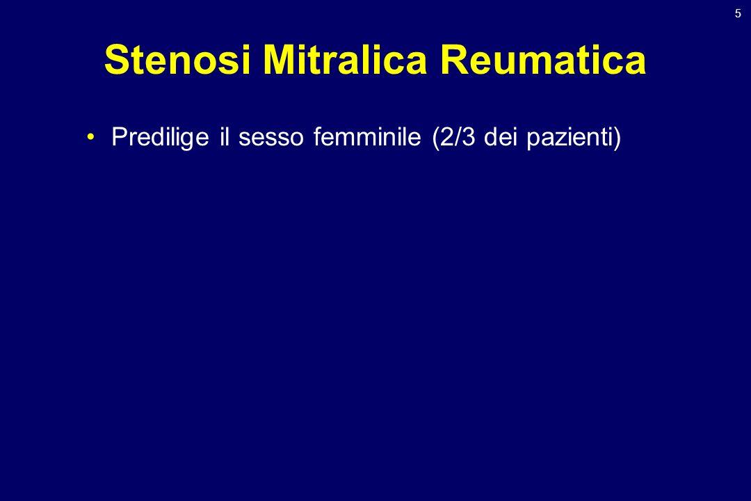 46 Insufficienza Mitralica Sintomatologia Determinata dalla correlazione tra: –Severità dellinsufficienza mitralica –Velocità di progressione dellinsufficienza –Ripercussioni pressorie sulla camere a monte –Insorgenza di tachiaritmie (fibrillazione atriale) –Associazione con: Altre valvulopatie Coronaropatia Disfunzione ventricolare sinistra