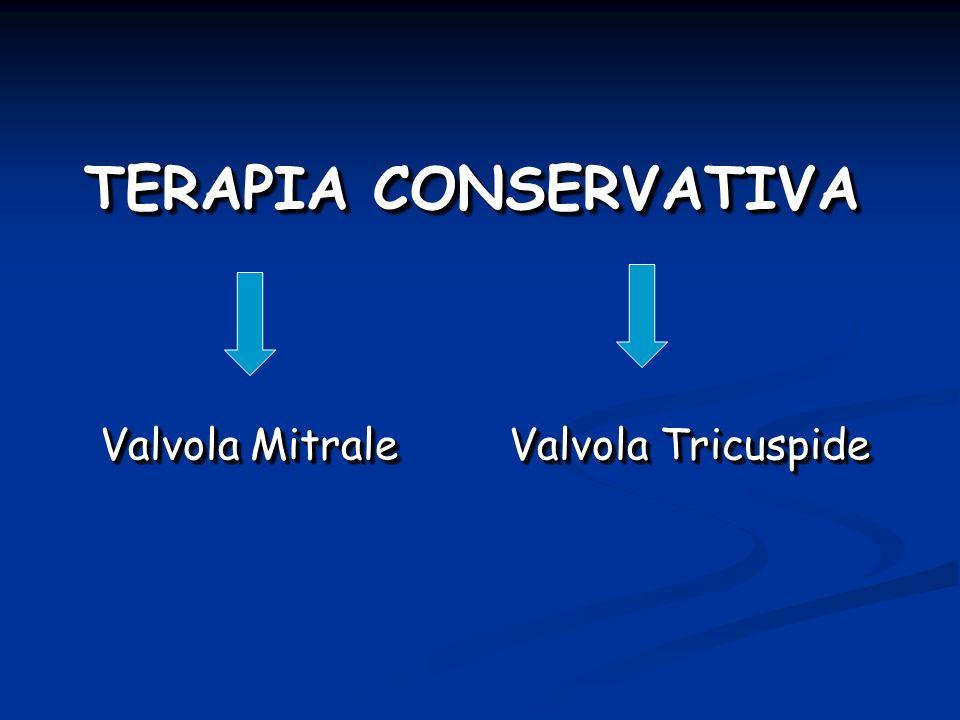 TERAPIA CONSERVATIVA Valvola Mitrale Valvola Tricuspide Valvola Mitrale Valvola Tricuspide