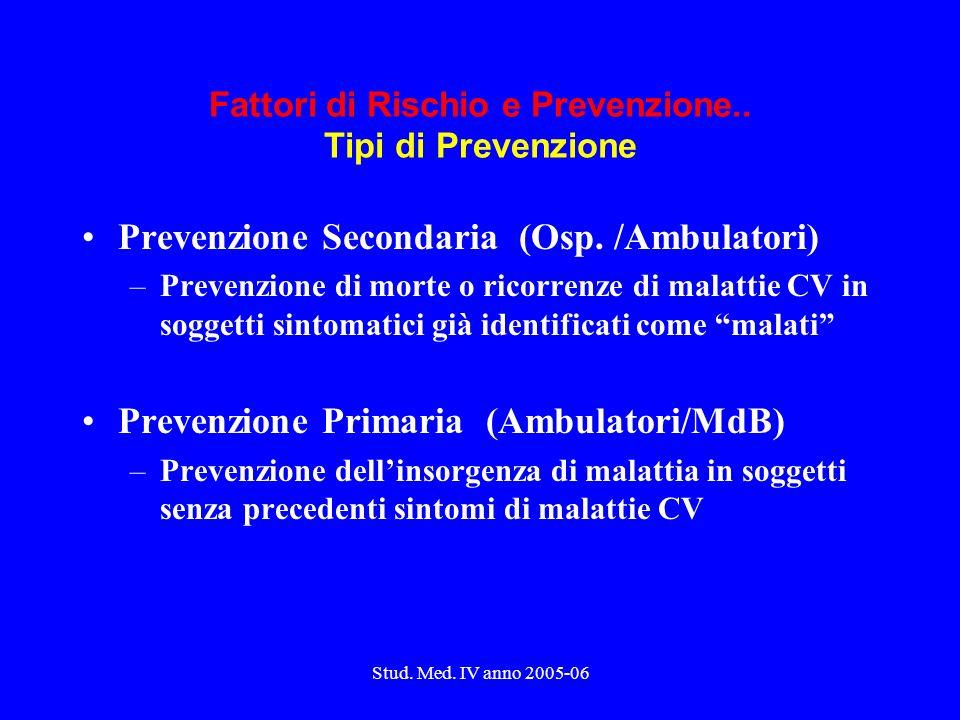 Stud.Med. IV anno 2005-06 Definiscono sindromi..