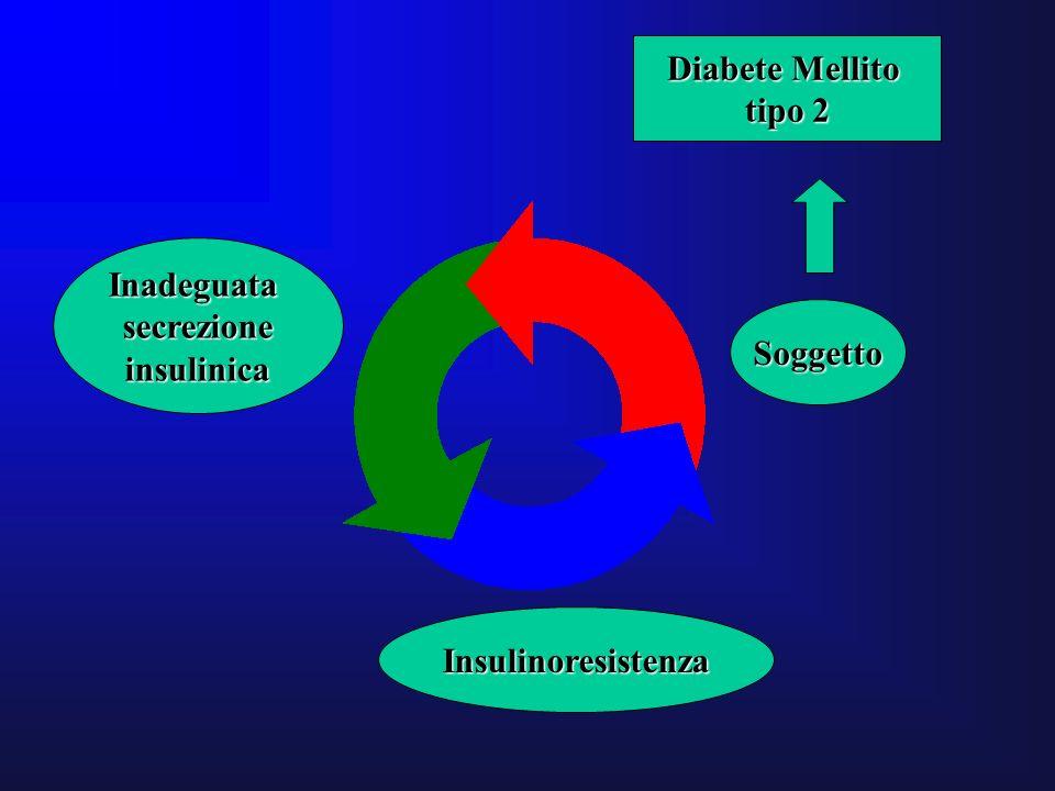 Soggetto Insulinoresistenza Inadeguatasecrezioneinsulinica Diabete Mellito tipo 2