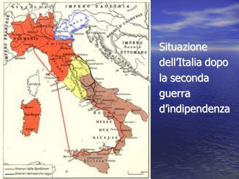 Situazione dellItalia dopo la seconda guerradindipendenza