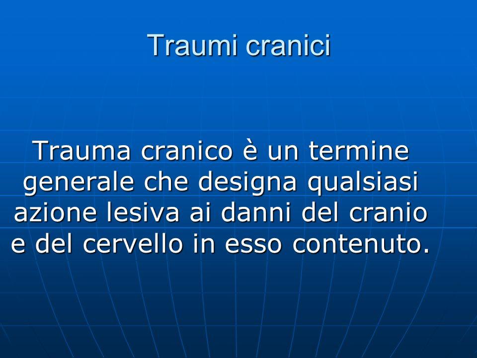 Trauma cranico è un termine generale che designa qualsiasi azione lesiva ai danni del cranio e del cervello in esso contenuto.