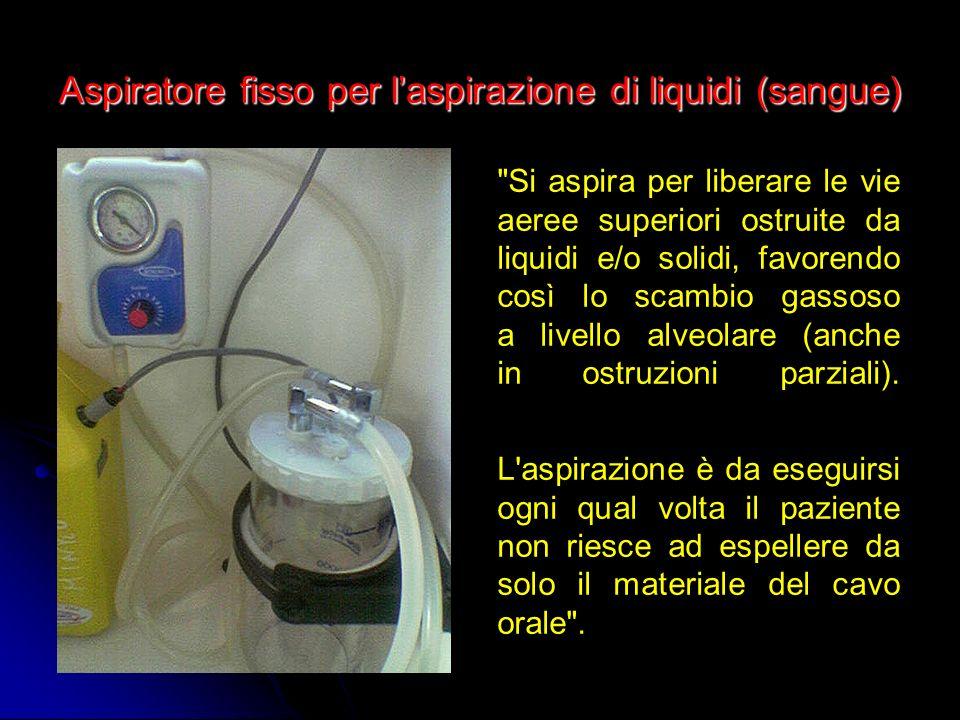 Aspiratore fisso per laspirazione di liquidi (sangue)