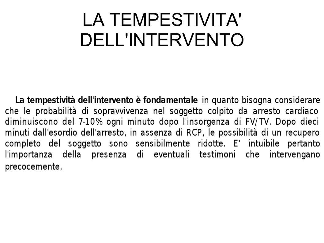 LA TEMPESTIVITA DELL INTERVENTO