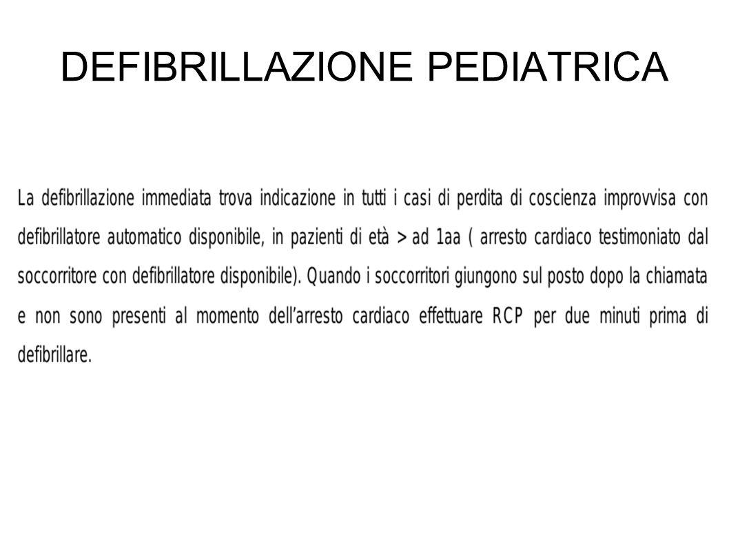 DEFIBRILLAZIONE PEDIATRICA