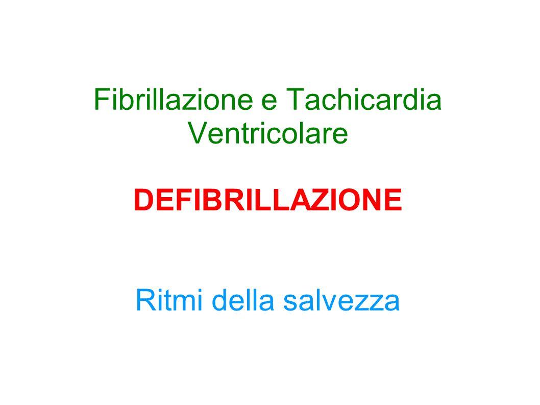 Fibrillazione e Tachicardia Ventricolare DEFIBRILLAZIONE Ritmi della salvezza