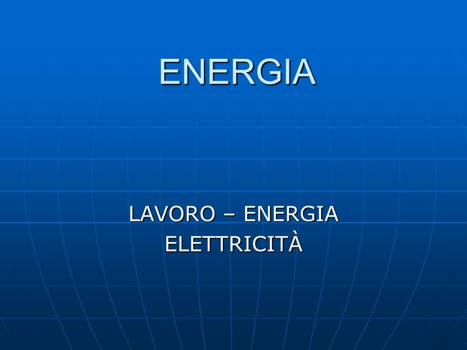 ENERGIA LAVORO – ENERGIA ELETTRICITÀ