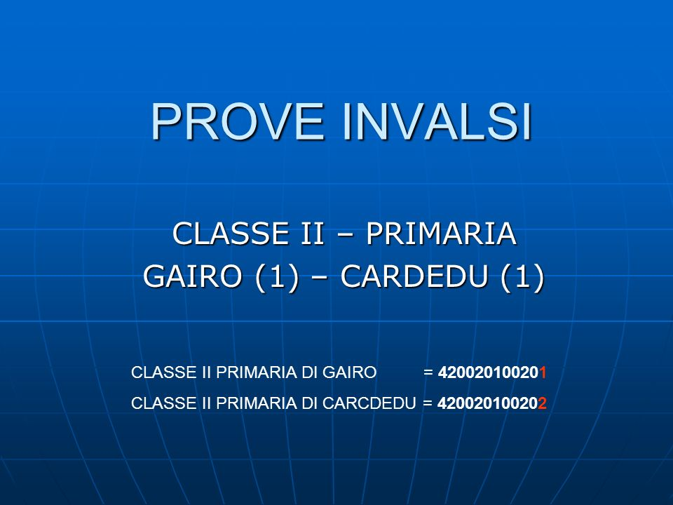 CLASSI II – PRIMARIA - MATEMATICA