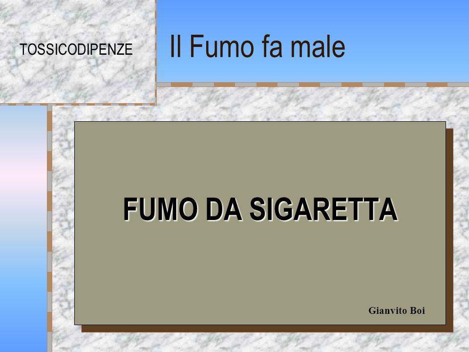 Il Fumo fa male TOSSICODIPENZE FUMO DA SIGARETTA Gianvito Boi
