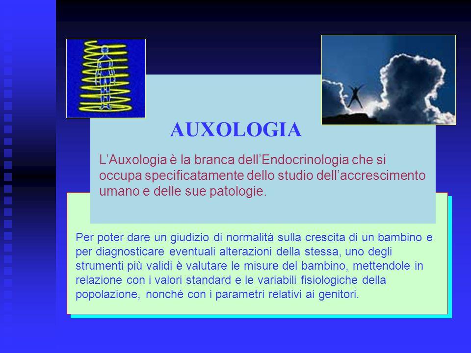 LAuxologia è la branca dellEndocrinologia che si occupa specificatamente dello studio dellaccrescimento umano e delle sue patologie. Per poter dare un