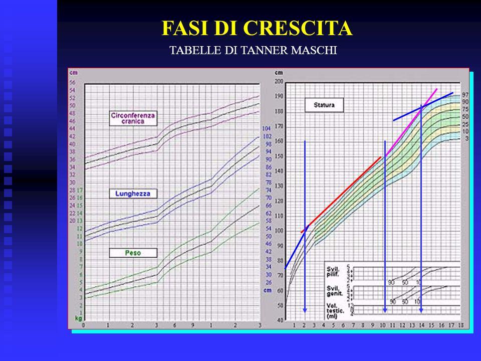 FASI DI CRESCITA TABELLE DI TANNER MASCHI