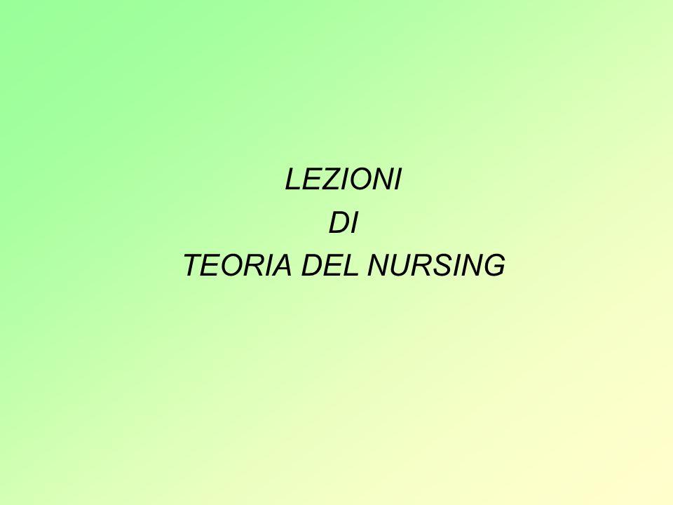 LEZIONI DI TEORIA DEL NURSING