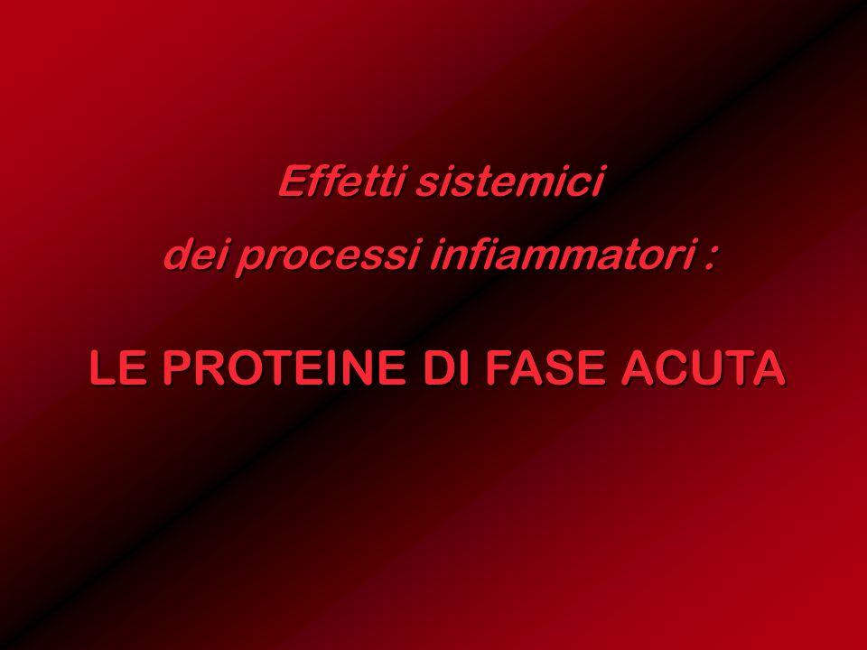 Effetti sistemici dei processi infiammatori : LE PROTEINE DI FASE ACUTA