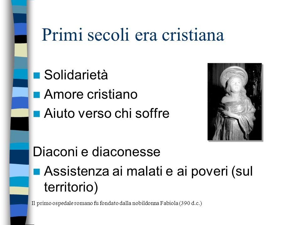 Epoca romana VALETUDINARIA: (Fino a 200 ricoverati) Vi operavano medici e servi