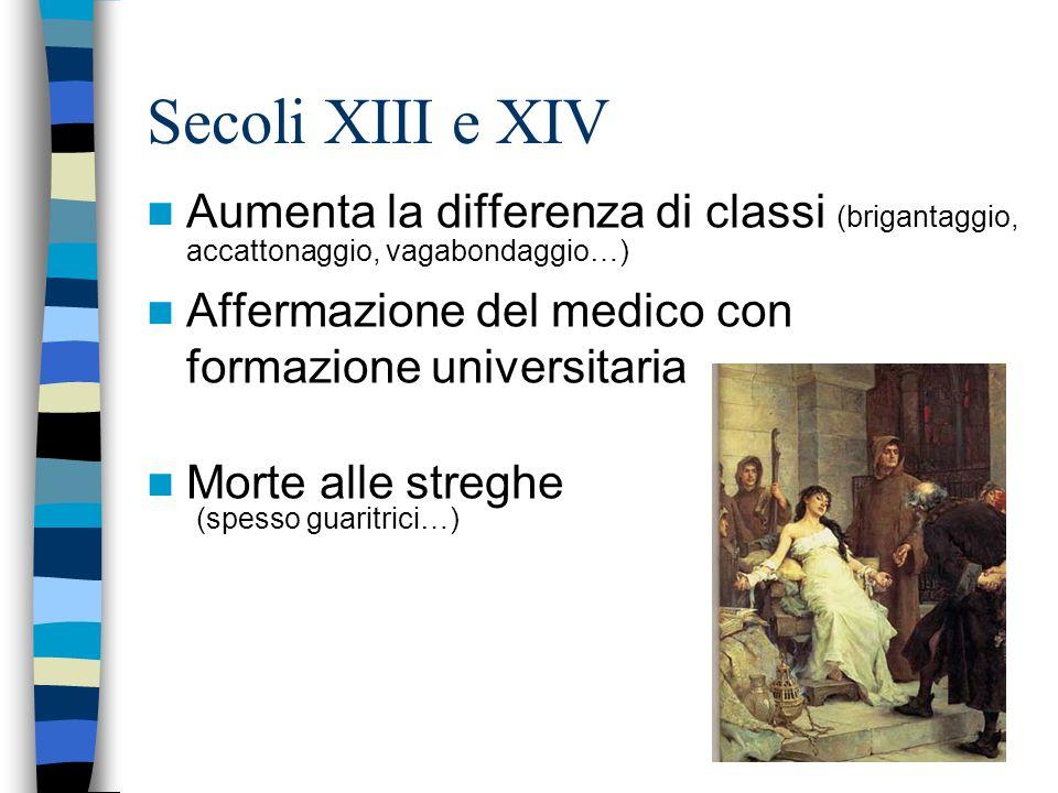 Secoli XI e XII Sviluppo delle Arti e delle Corporazioni Ospedale degli Innocenti (Firenze) Passaggio da carità a diritto per certe categorie di lavor