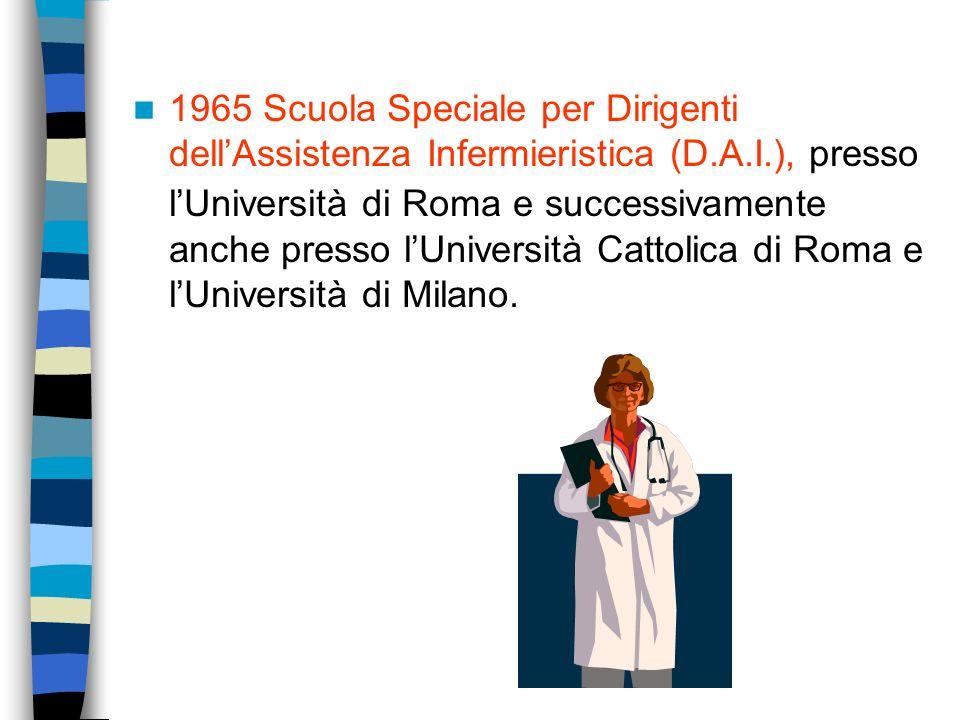 Il secondo dopoguerra Legge 25 febbraio 1971 n. 124 accesso anche agli uomini alle scuole per infermiere e fine dellinternato. Dallanno scol. 1973-197