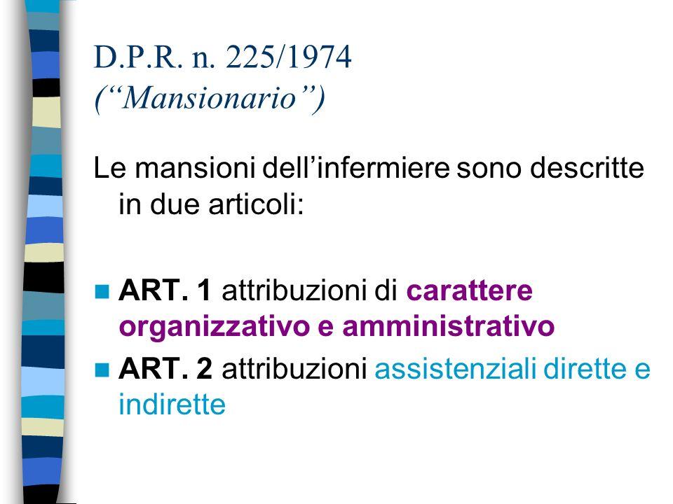 1965 Scuola Speciale per Dirigenti dellAssistenza Infermieristica (D.A.I.), presso lUniversità di Roma e successivamente anche presso lUniversità Catt