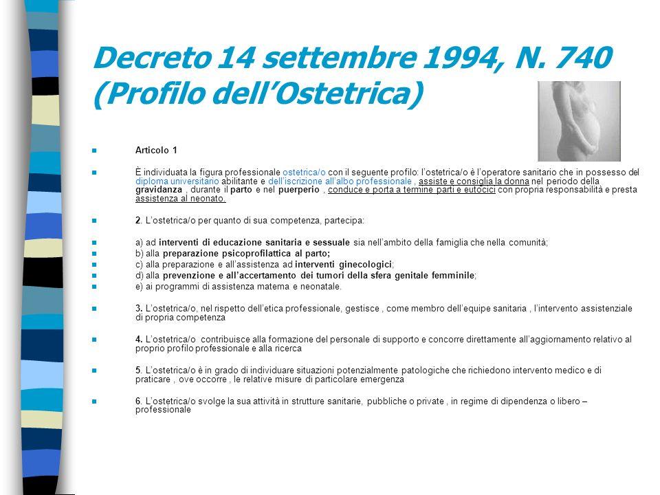 MINISTERO DELLA SANITA Decreto 14 settembre 1994, N. 740 Regolamento concernente la individuazione della figura e relativo profilo professionale dellO