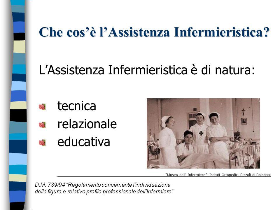 Che cosè lAssistenza Infermieristica? L'assistenza infermieristica può essere: Preventiva Curativa Palliativa Riabilitativa D.M. 739/94 Regolamento co