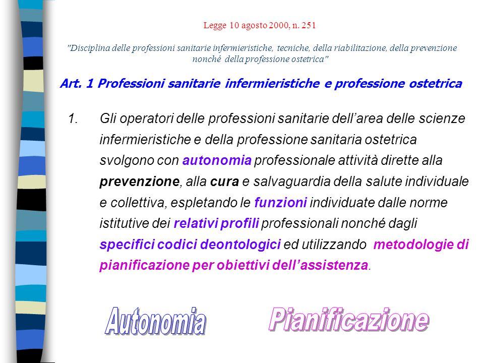 Disciplina delle professioni sanitarie infermieristiche, tecniche, della riabilitazione, della prevenzione nonché della professione ostetrica.