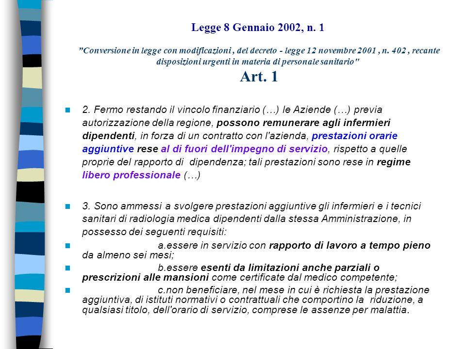 Legge 8 Gennaio 2002, n.