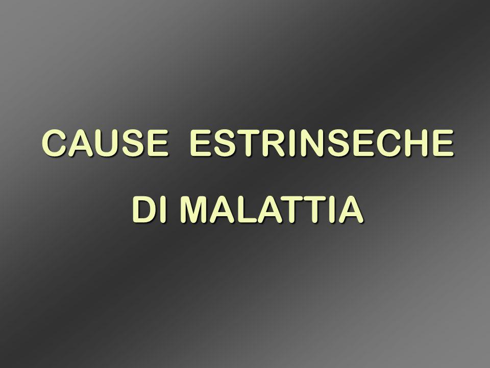 CAUSE ESTRINSECHE DI MALATTIA