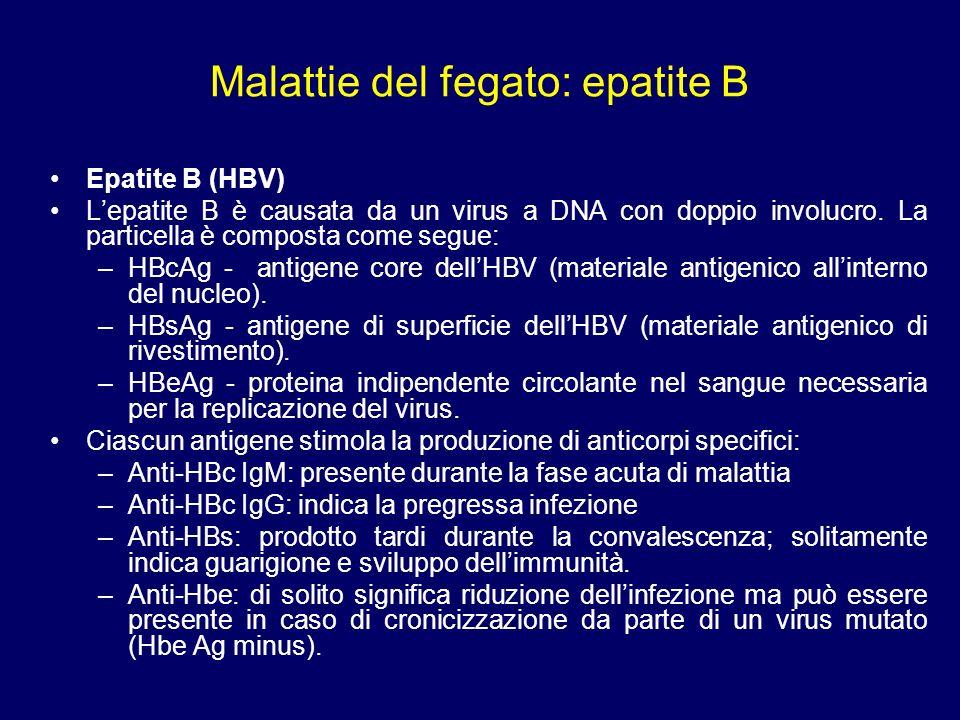 Malattie del fegato: epatiti Epatite A (HAV) LEpatite A è causata da un virus ad RNA virus appartenente alla famiglia degli enterovirus.