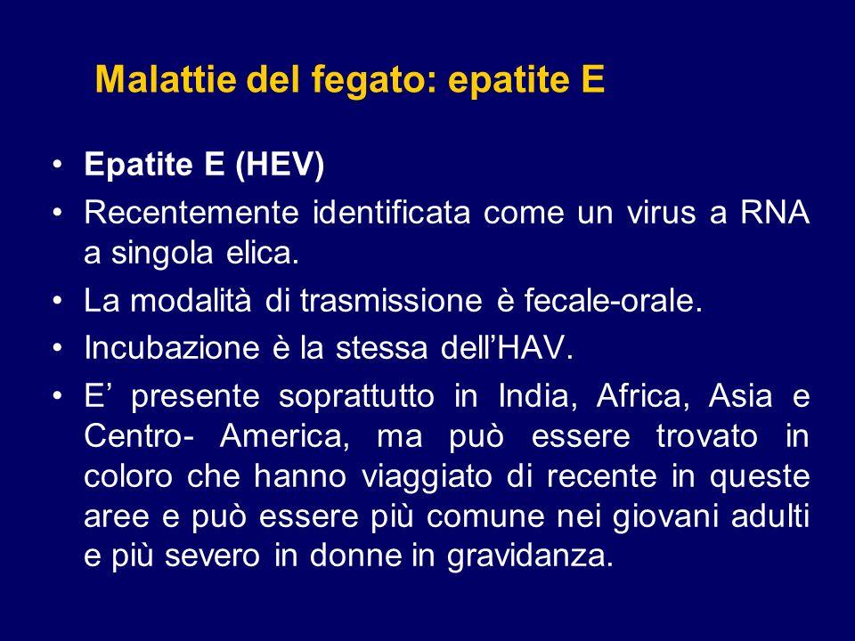 Epatite D (HDV, Epatite Delta) Il virus dellepatitis D non possiede RNA, per cui può replicare solo in presenza del virus dellepatite B.