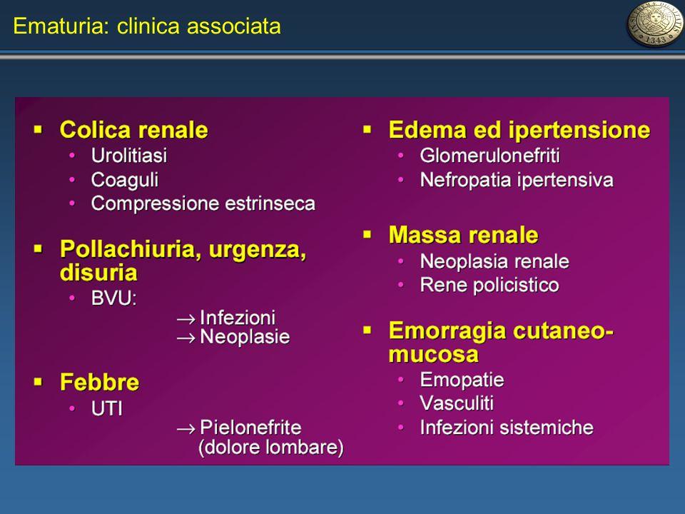 Ematuria: clinica associata