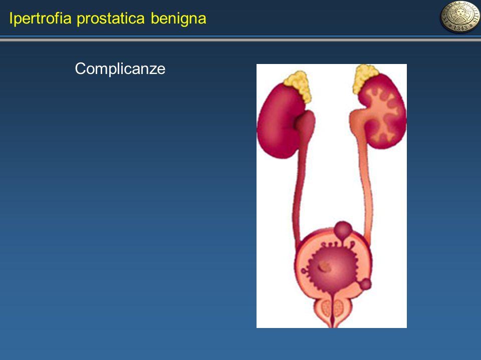 Ipertrofia prostatica benigna Complicanze