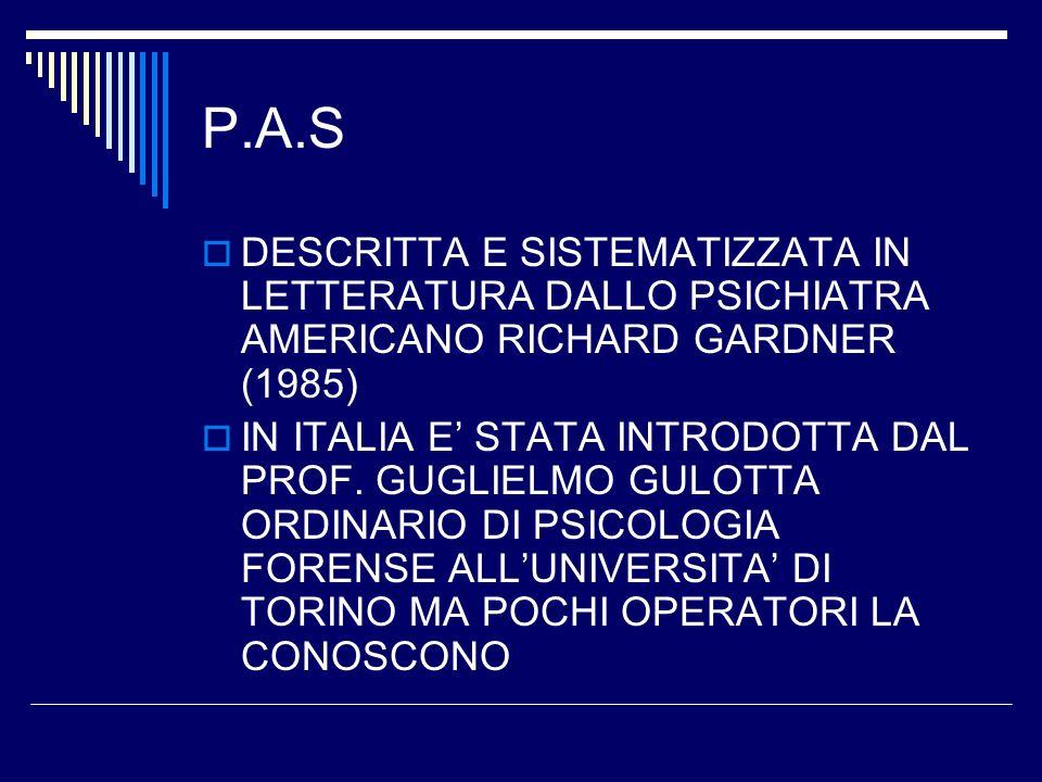 DEFINIZIONE DI P.A.S.