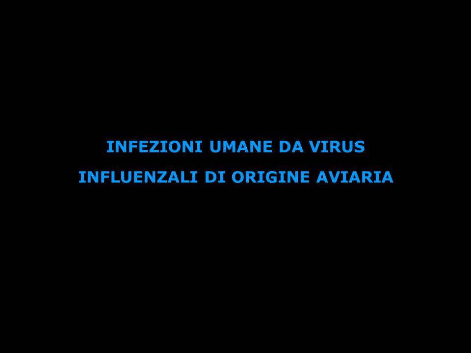 INFEZIONI UMANE DA VIRUS INFLUENZALI DI ORIGINE AVIARIA
