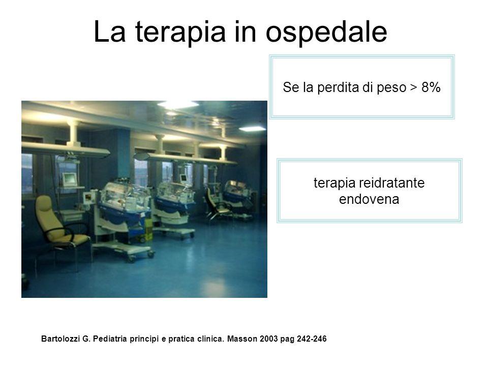 La terapia in ospedale Bartolozzi G.Pediatria principi e pratica clinica.