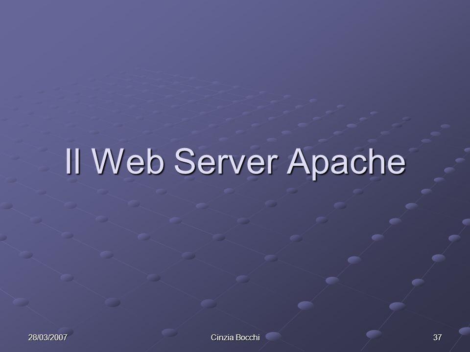 28/03/2007 Cinzia Bocchi 37 Il Web Server Apache