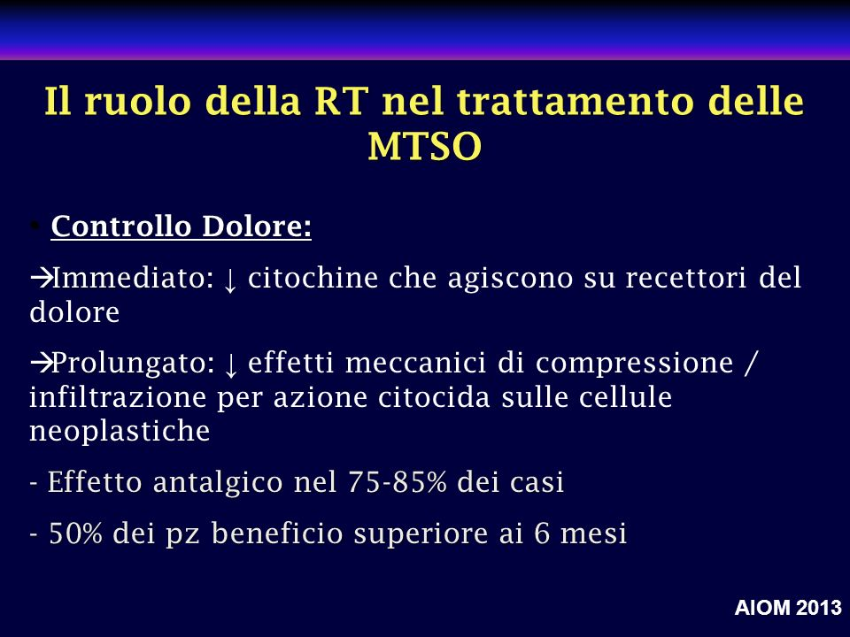 clinicaloptions.com/oncology A Call to Action: Emerging Strategies to Optimize Bone Health in Breast Cancer Il ruolo della RT nel trattamento delle MT